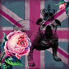 Union Jack, British Bulldog and Roses by claryce84