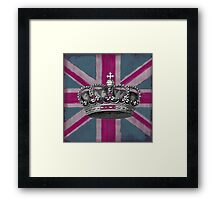 Union Jack and Crown Framed Print