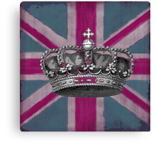 Union Jack and Crown Canvas Print