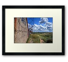 Barbed Wire - Pontin's Holiday Camp, Lytham Framed Print