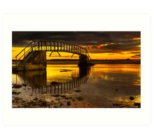 Belhaven Sunset Art Print