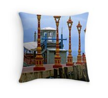 Victory Dock Throw Pillow