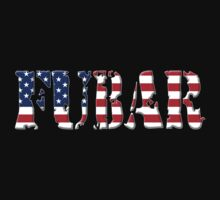 FUBAR - USA flag, white outline by MadTogger