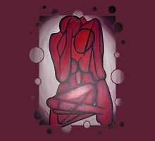 Abstract Lovers In Red Womens Fitted T-Shirt
