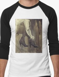 Stockings And Heels Men's Baseball ¾ T-Shirt