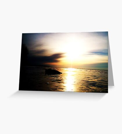 A Superior Sunset Greeting Card