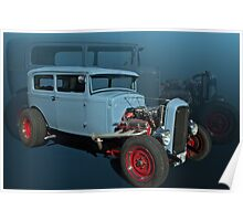 "1931 Ford Sedan Hot Rod ""Fade to Blue"" Poster"
