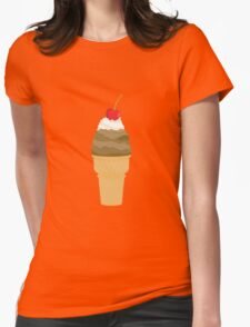 Ice Cream Illustration 02  Womens Fitted T-Shirt