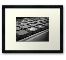 Computer buttons Framed Print