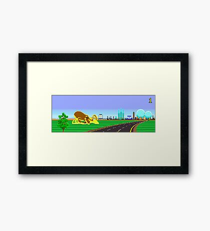 Road Blasters Octopus Framed Print