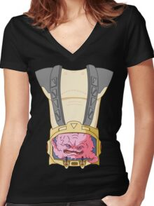 Krang Women's Fitted V-Neck T-Shirt