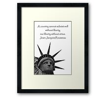 Liberty With Virtue Framed Print