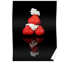Strawberry & Cream pyramid Poster