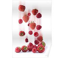 Raining Fruit Poster