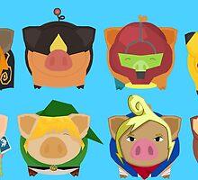 Ninted Piggies by GamerPiggy