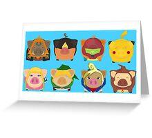 Ninted Piggies Greeting Card