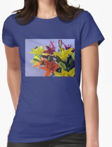Lily Bouquet Womens Fitted T-Shirt