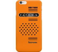 Transistor Radio - 70's Orange iPhone Case/Skin