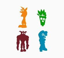 Crash Bandicoot (Allies) - Coloured Silhouettes Unisex T-Shirt