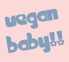 Vegan Baby in Blue Baby Tee