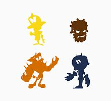 Crash Bandicoot (Foes) - Coloured Silhouettes Unisex T-Shirt