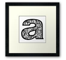 Small a, white background Framed Print