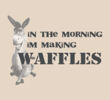 in the morning, donkey is making waffles by Alice Thorpe
