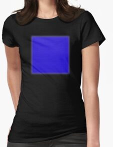 Building Block Brick Texture - Blue Womens Fitted T-Shirt