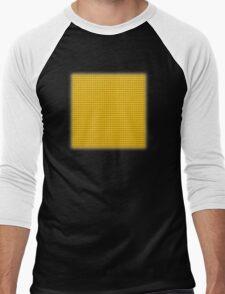 Building Block Brick Texture - Yellow Men's Baseball ¾ T-Shirt