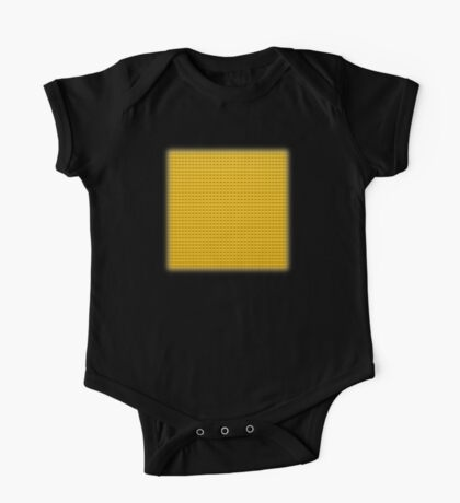 Building Block Brick Texture - Yellow One Piece - Short Sleeve