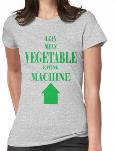 Vegetable Eating Machine Womens Fitted T-Shirt