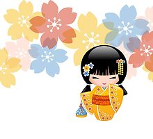 Japanese Summer Kokeshi Doll by chibibikun