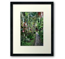 Bali pathway Framed Print