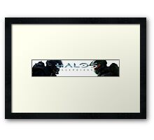 Halo 5 Locke vs Master Chief Framed Print