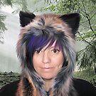 Wolfspirit self portrait by Cazzie Cathcart