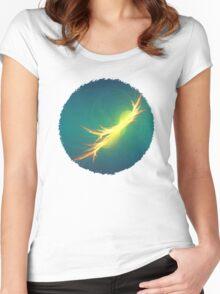 Fractal Phoenix Rising Women's Fitted Scoop T-Shirt
