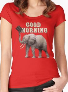 Good Morning Women's Fitted Scoop T-Shirt