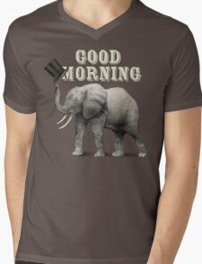 Good Morning Mens V-Neck T-Shirt