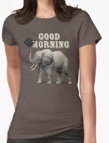 Good Morning Womens Fitted T-Shirt