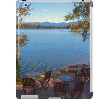 Patio on the Water Front - Mirror Lake iPad Case/Skin