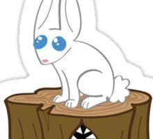 Look, It's a Cute Bunny... OHCRAP Sticker