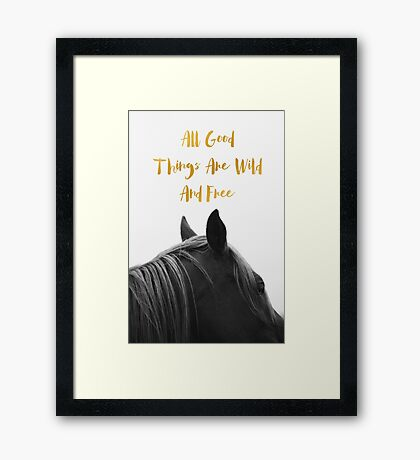All Good Things - Horse Framed Print