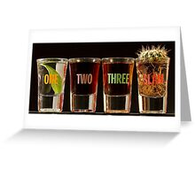 One, Two, Three, Slam! Greeting Card