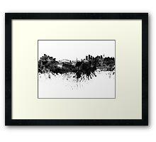 Sydney skyline in black watercolor Framed Print