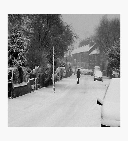 Snow scene Photographic Print