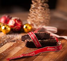Christmas table with brownies by Dan Edwards