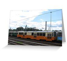 Work Train (no passengers) at Riverside Greeting Card