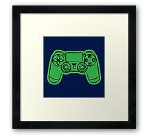 Gamer- green Framed Print