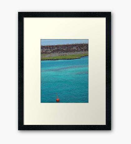 Galapagos Water Framed Print