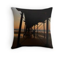 Pier supports. Throw Pillow
